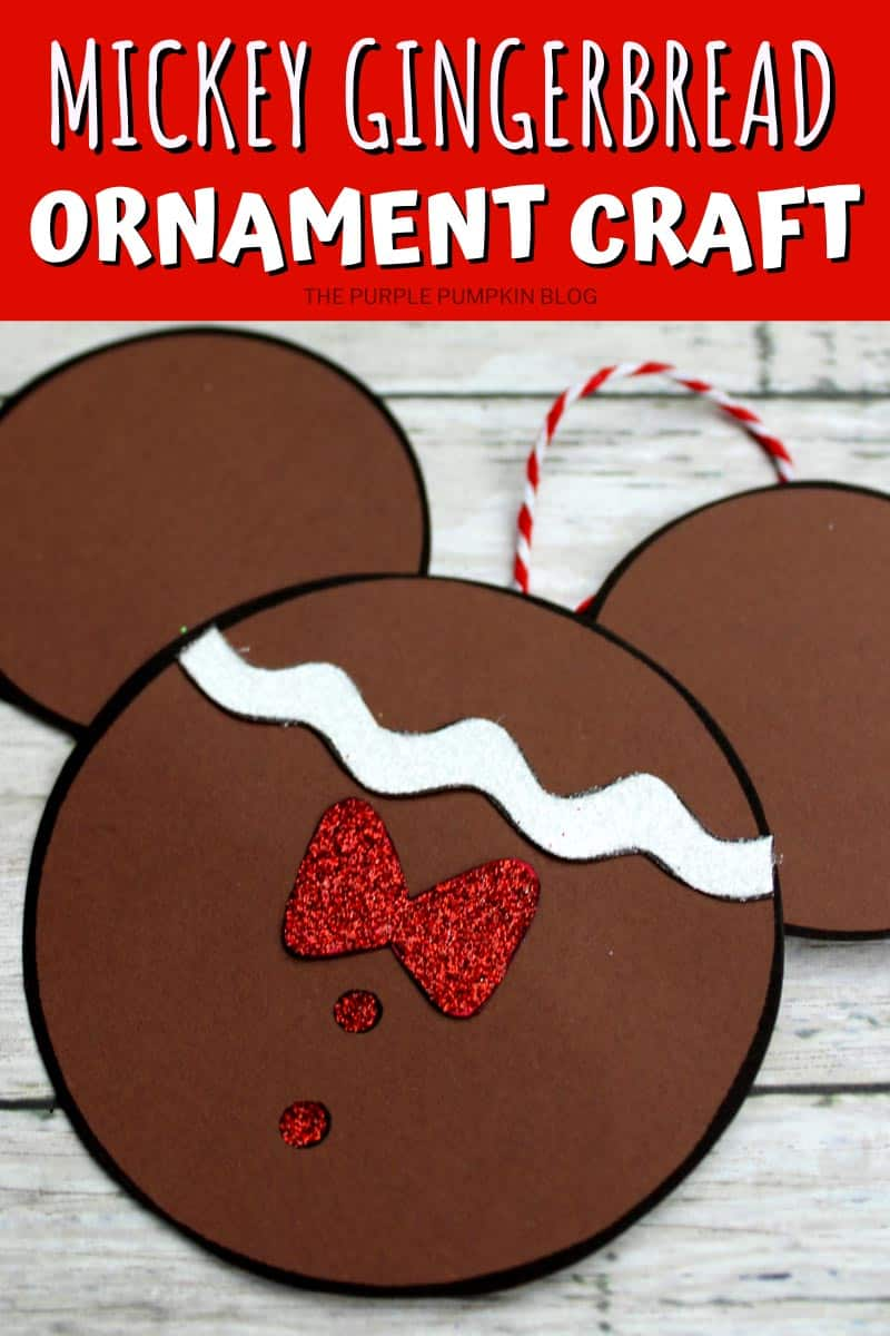 Mickey Gingerbread Ornamaent Craft