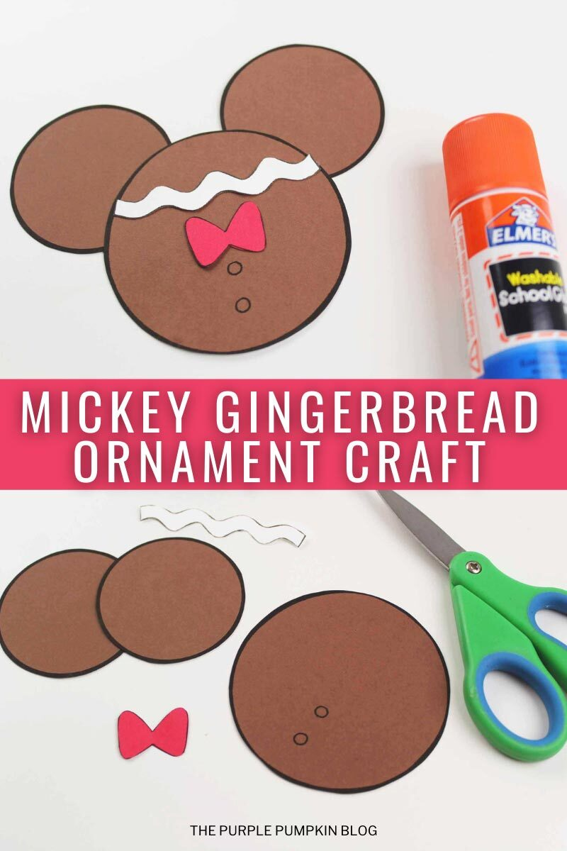 Mickey Gingerbread Christmas Ornament Craft