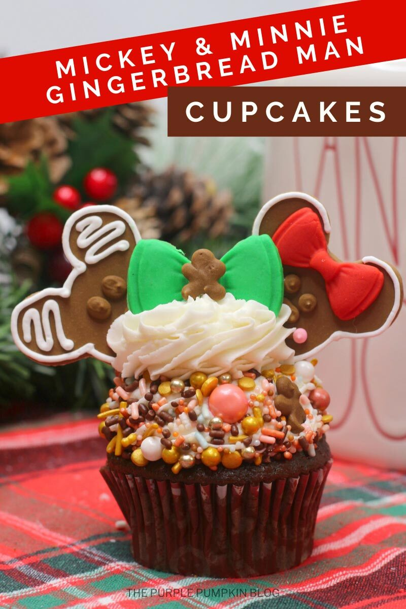 Mickey & Minnie Gingerbread Man Cupcakes