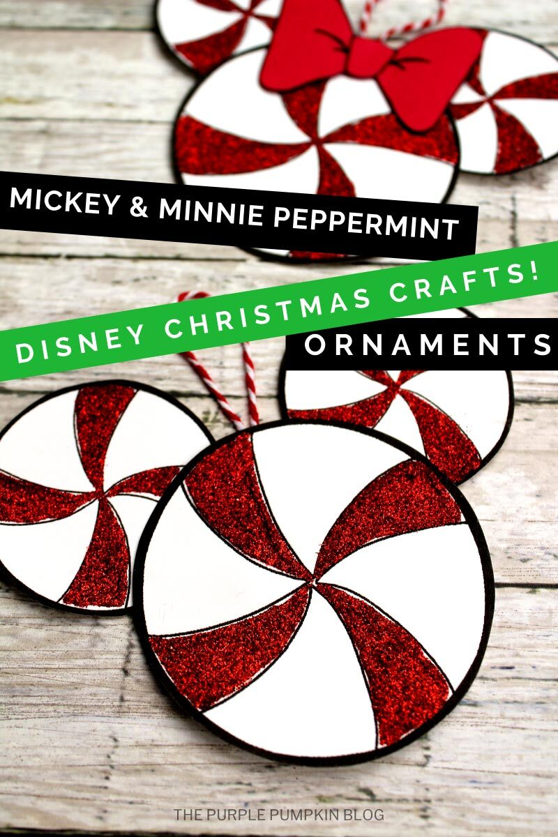 Mickey & Minnie Peppermint Ornaments - Disney Christmas Crafts!