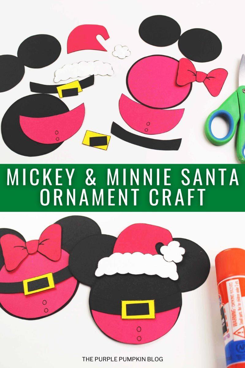 Mickey & Minnie Santa Ornament Craft