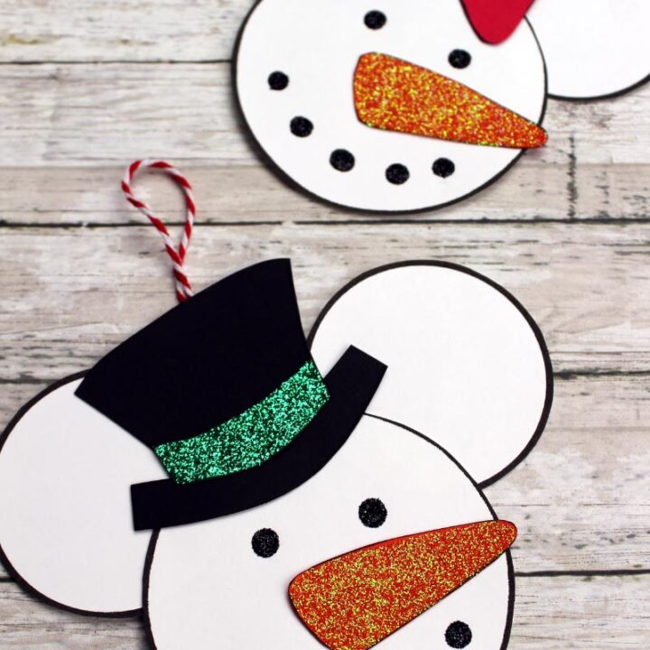 Mickey Mouse & Minnie Mouse Snowman Ornament Craft