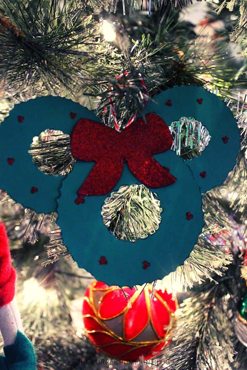 Mickey Mouse Wreath Christmas Tree Ornament