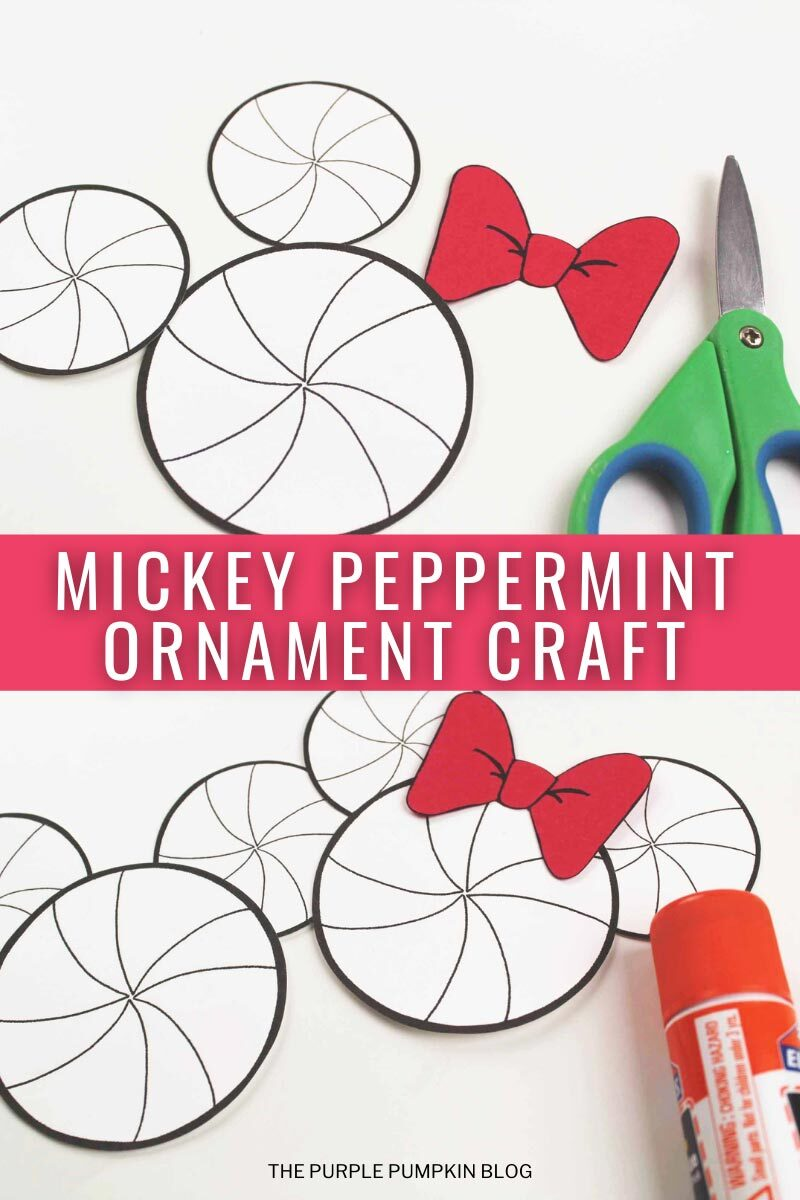 Mickey Peppermint Christmas Ornament Craft