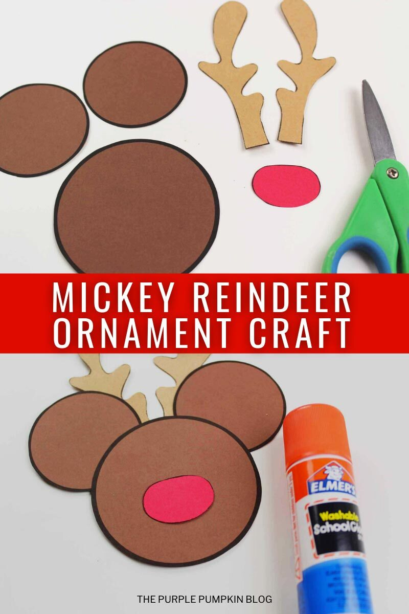 Mickey Reindeer Ornament Craft
