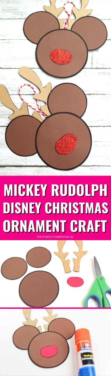 Mickey Rudolph Disney Christmas Ornament Craft