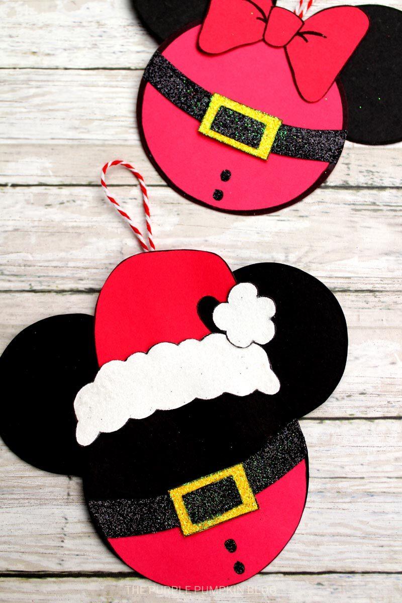Mickey Santa Ornament Craft