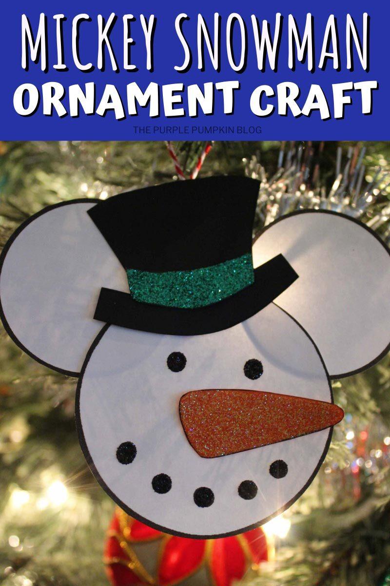 Mickey Snowman Ornament Craft