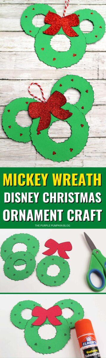 Mickey Wreath Disney Christmas Ornament Craft