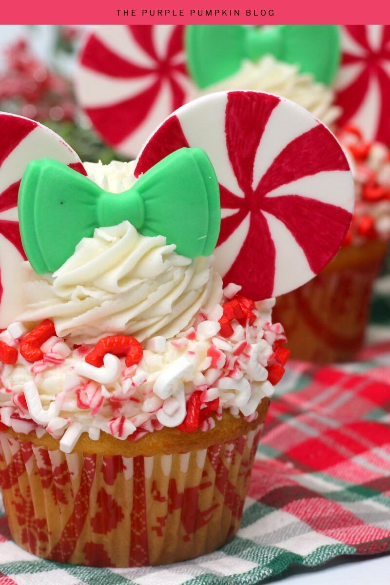 Minnie Mouse Peppermint Candy Cupcakes