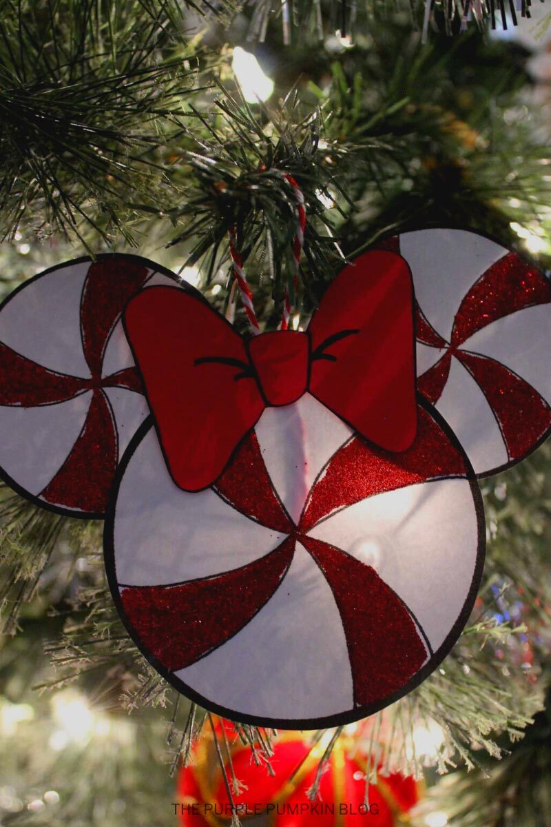 Minnie Mouse Peppermint Christmas Tree Ornament