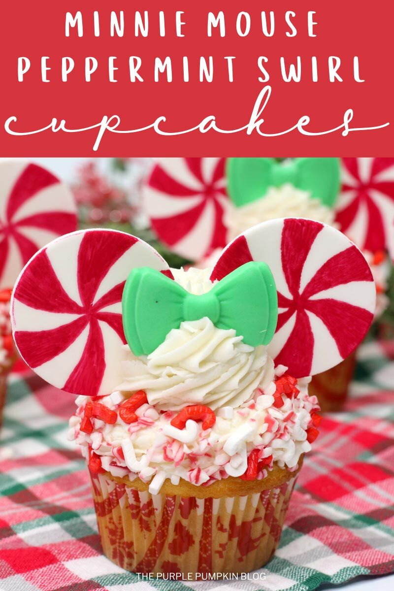 Minnie Mouse Peppermint Swirl Cupcakes