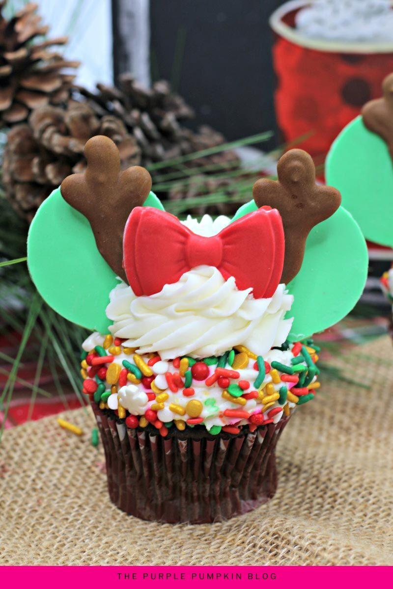 Minnie Mouse Reindeer Cupcakes Recipe