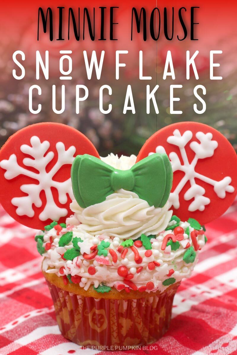 Minnie Mouse Snowflake Cupcakes for the Holidays