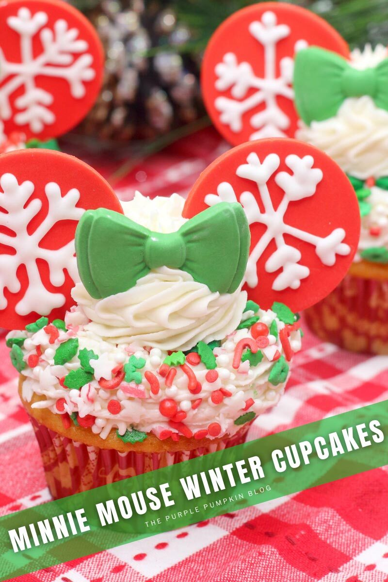 Minnie Mouse Winter Cupcakes Recipe