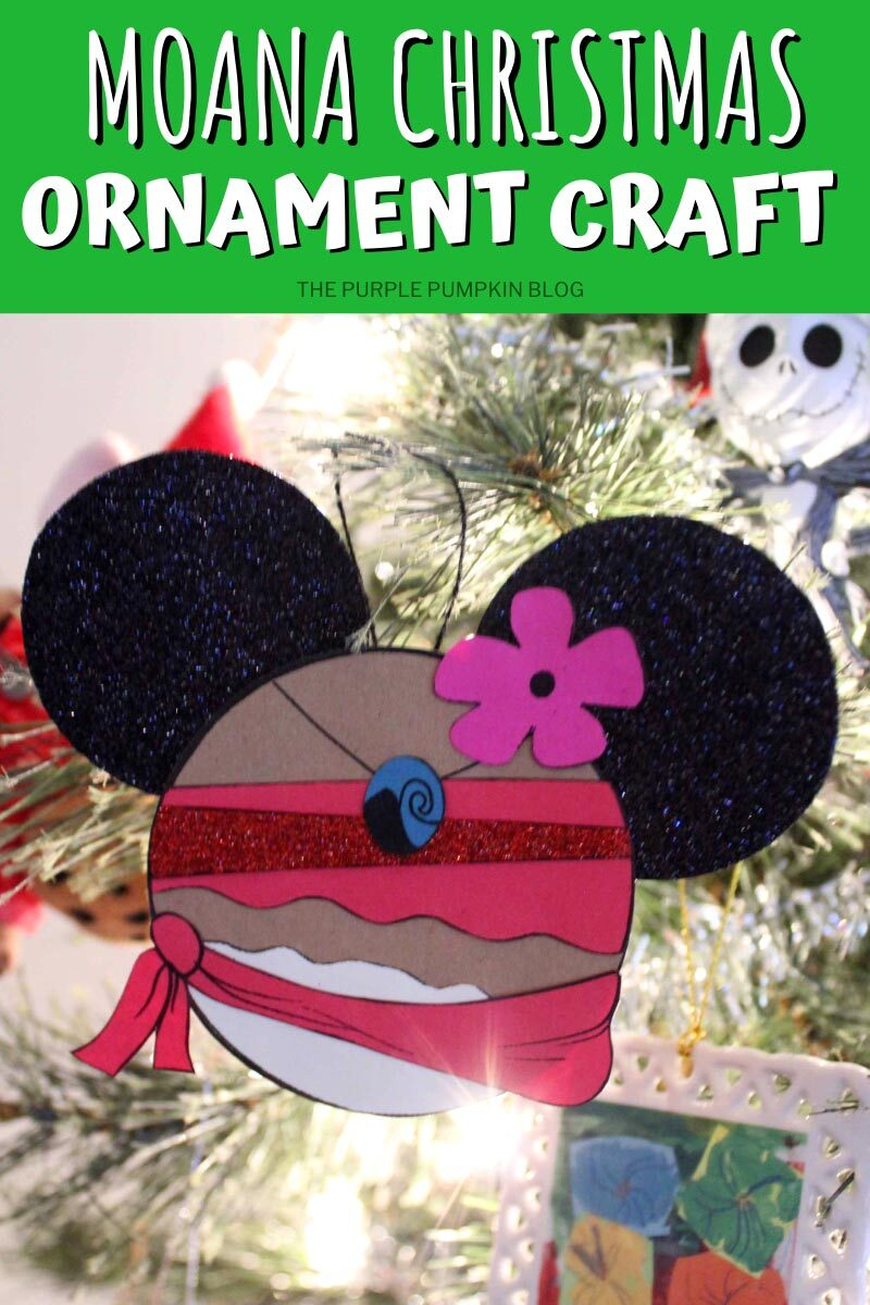 A Gorgeous Moana Christmas Ornament Craft For Your Tree!