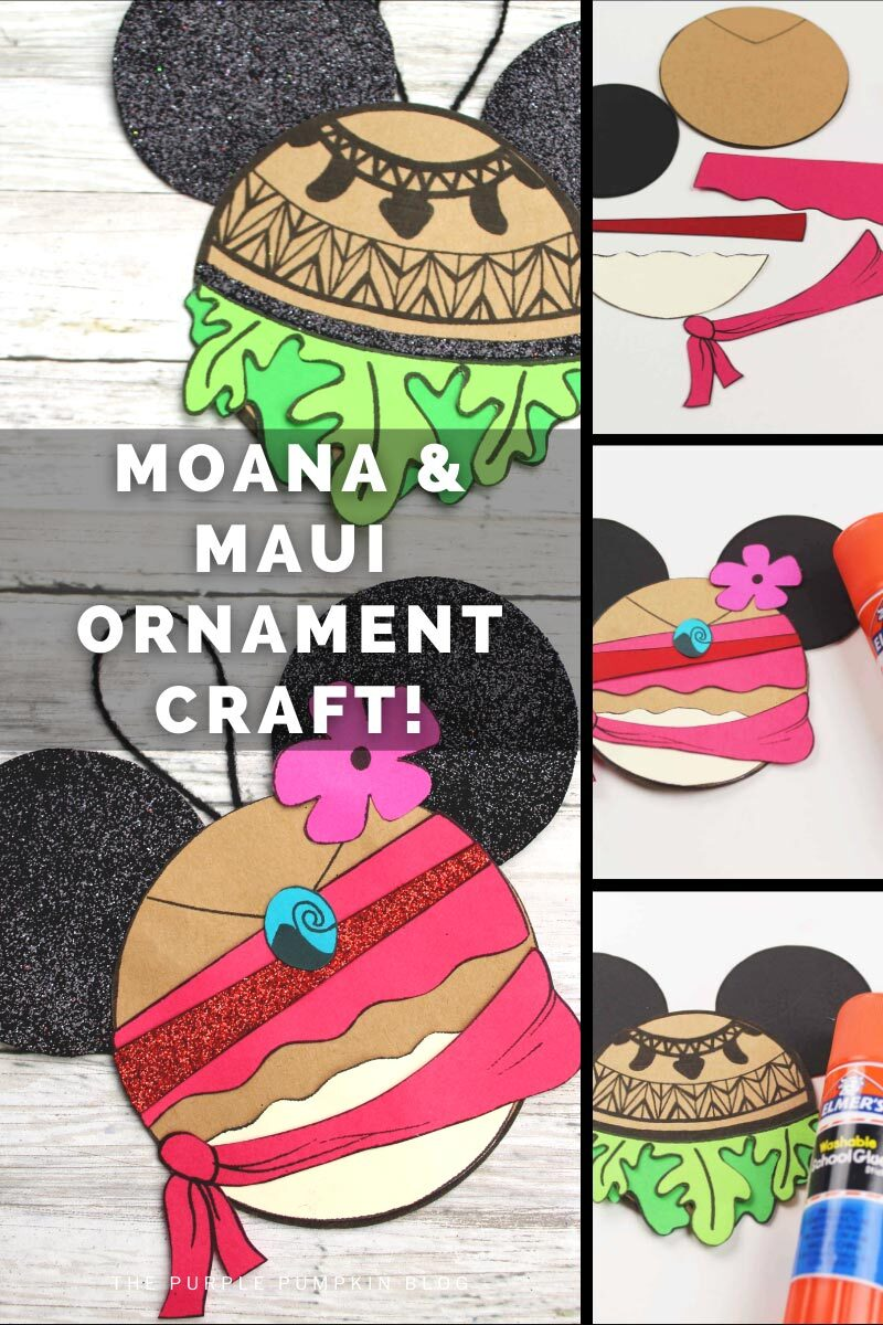 Moana & Maui Ornament Craft!
