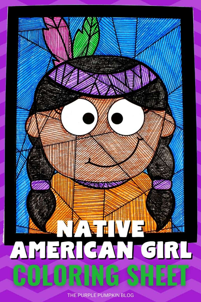 Natvive-American-Girl-Coloring-Sheet