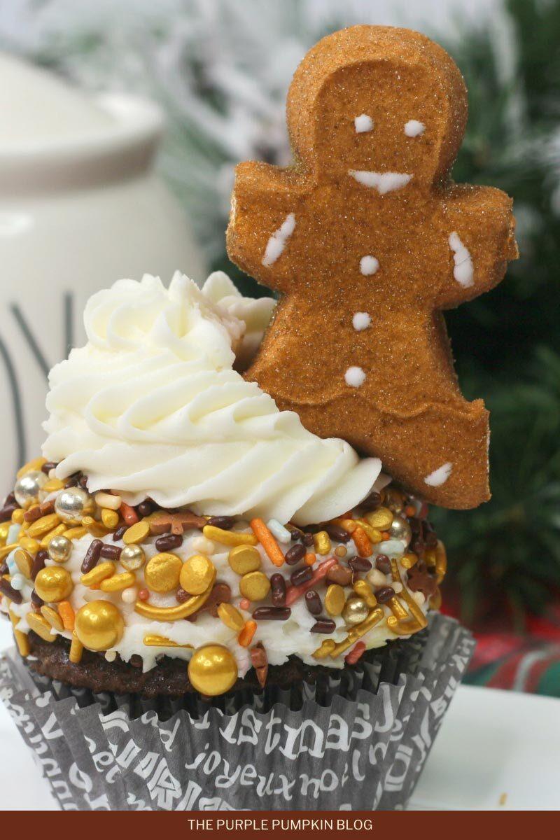 Peeps Gingerbread Man Cupcakes