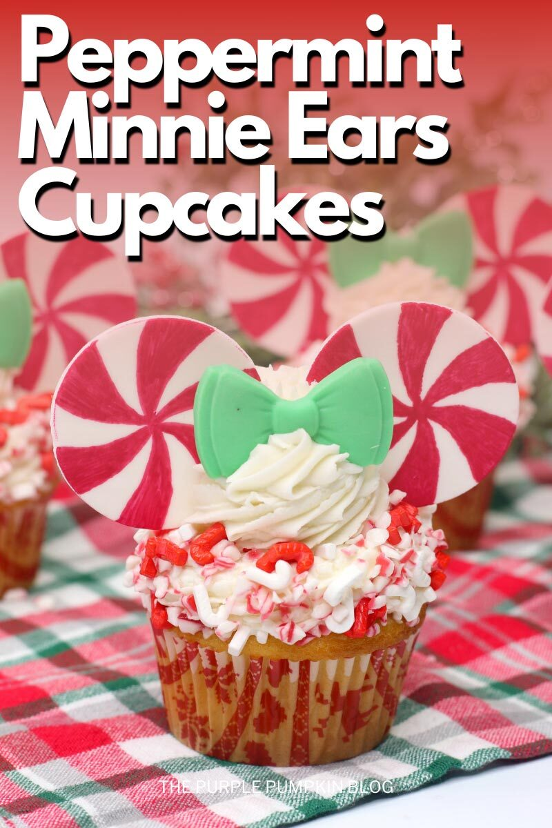 Peppermint Minnie Ears Cupcakes