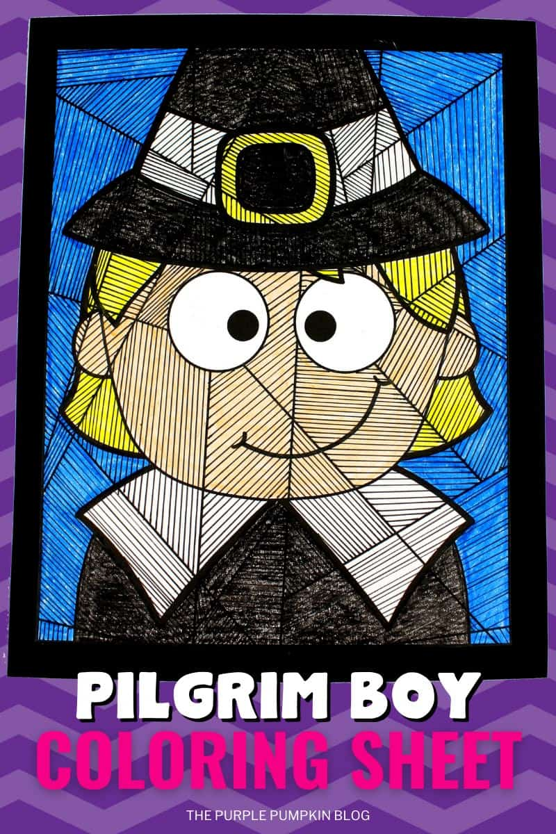 Pilgrim Boy Coloring Sheet