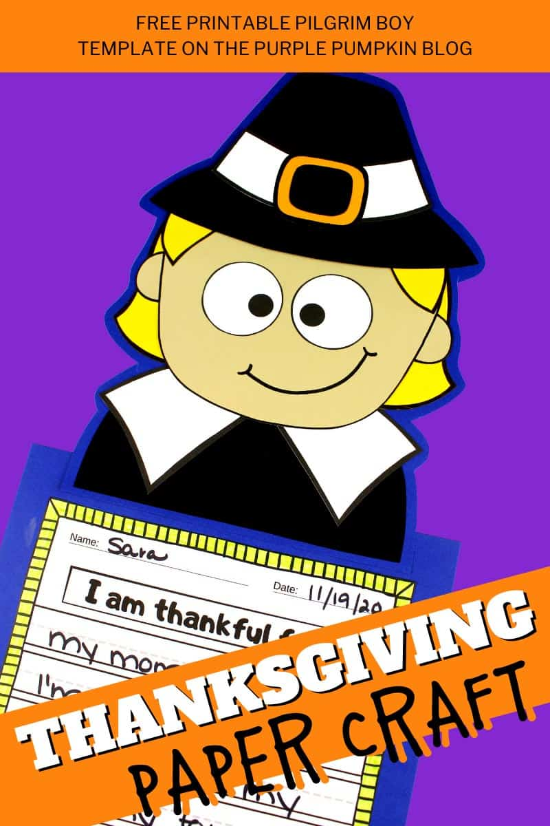 Pilgrim-Boy-Thanksgiving-Paper-Craft