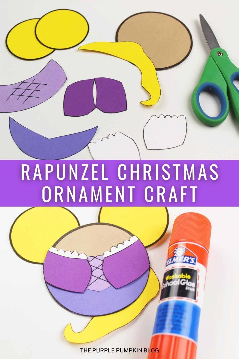 Rapunzel Christmas Ornament Craft