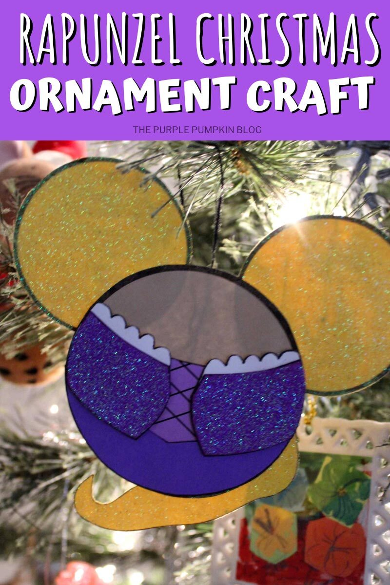 Make This Rapunzel Christmas Ornament Craft For Your Tree!