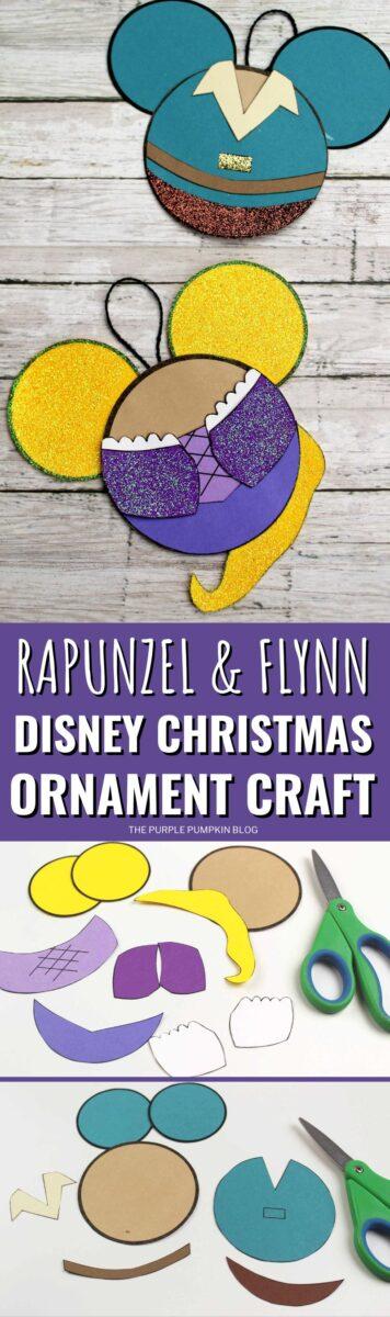 Rapunzel & Flynn Disney Christmas Ornament Craft