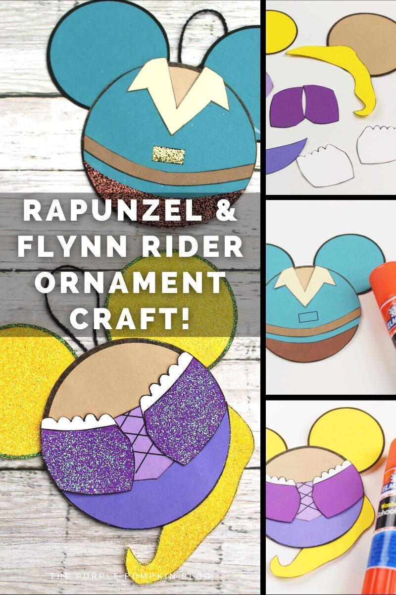 Rapunzel & Flynn Rider Ornament Craft