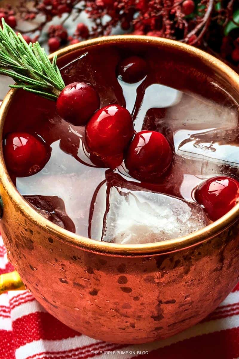 Recipe for Cranberry Moscow Mule Cocktail