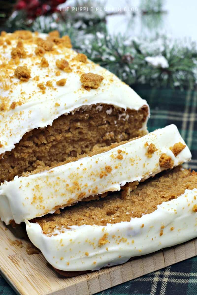 Recipe for Gingerbread Loaf with Cream Cheese Frosting