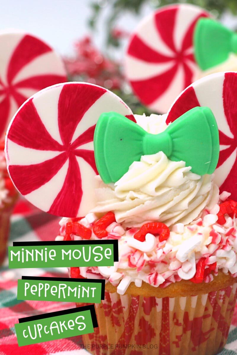 Recipe for Minnie Mouse Peppermint Cupcakes