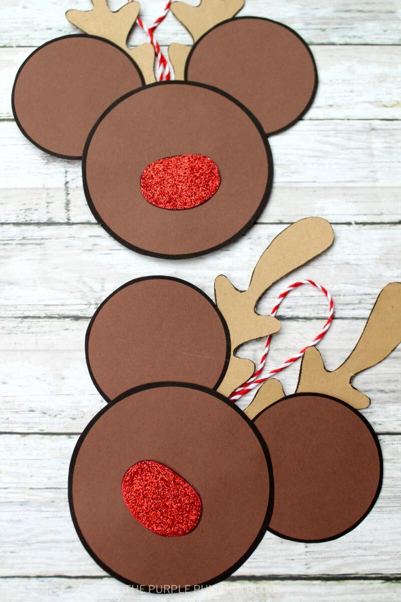 Reindeer Mickey Mouse Christmas Ornament Craft