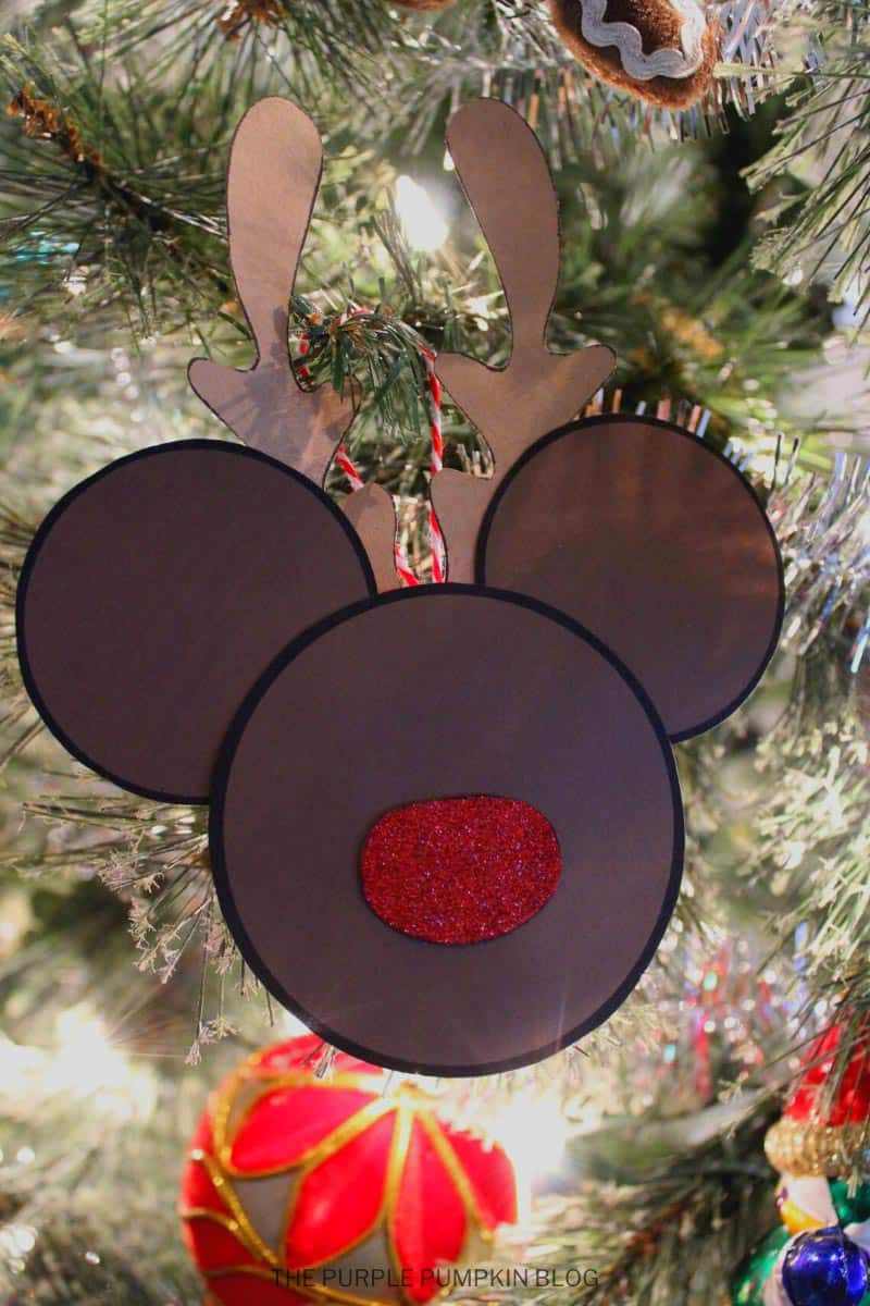 Reindeer Mickey Ornament for Christmas