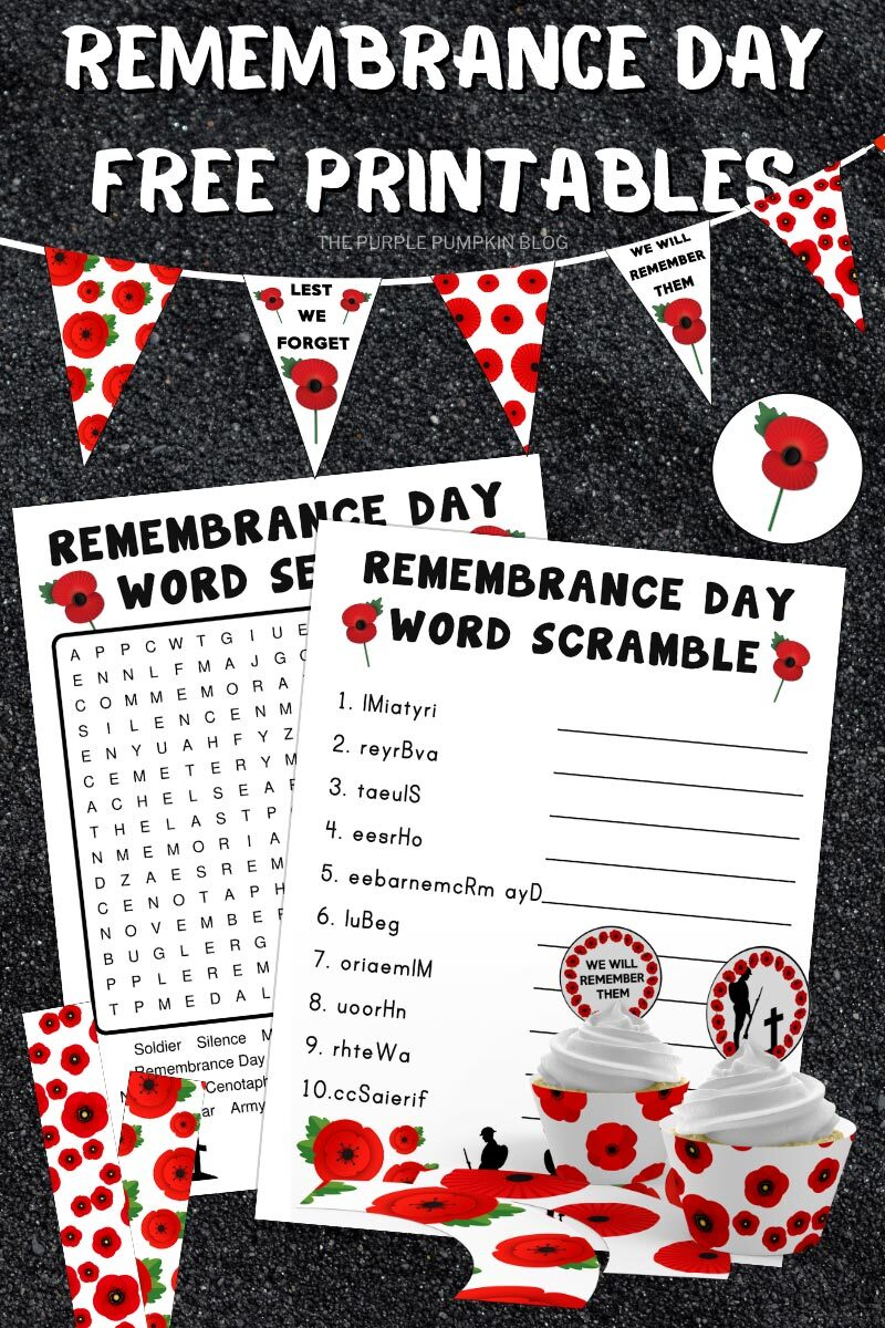 Remembrance Day Free Printables