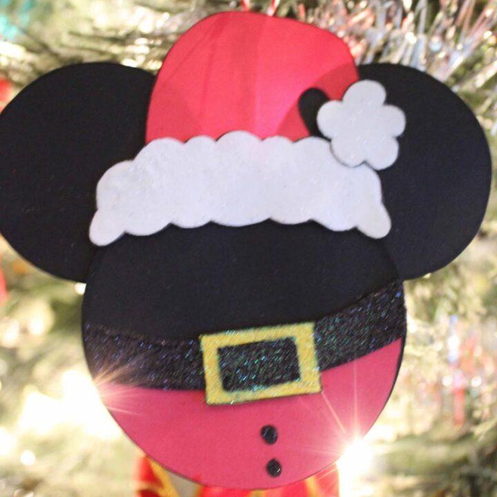 Santa Mickey Mouse Christmas Tree Ornament Craft