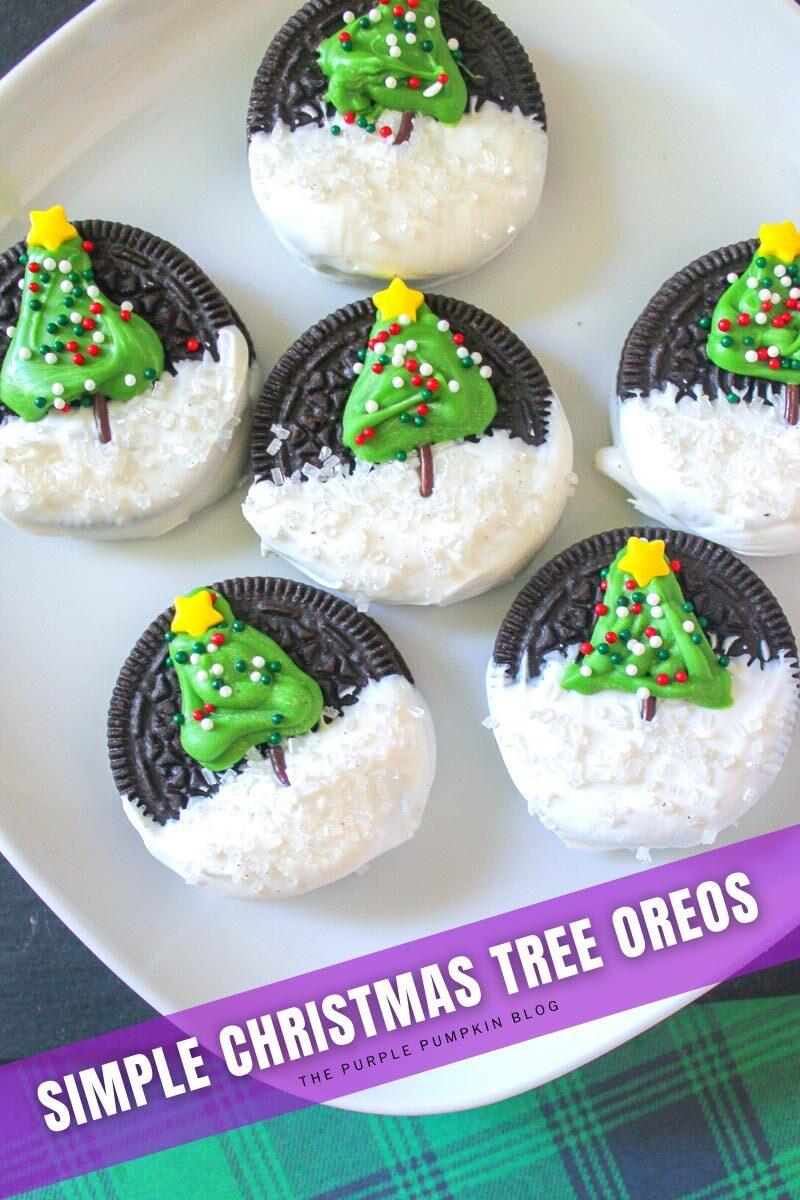 Simple Christmas Tree Oreos