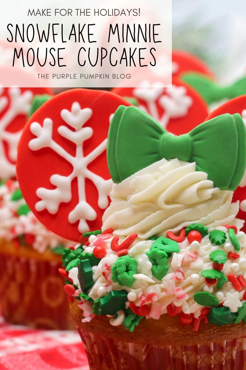 Snowflake Minnie Mouse Cupcakes