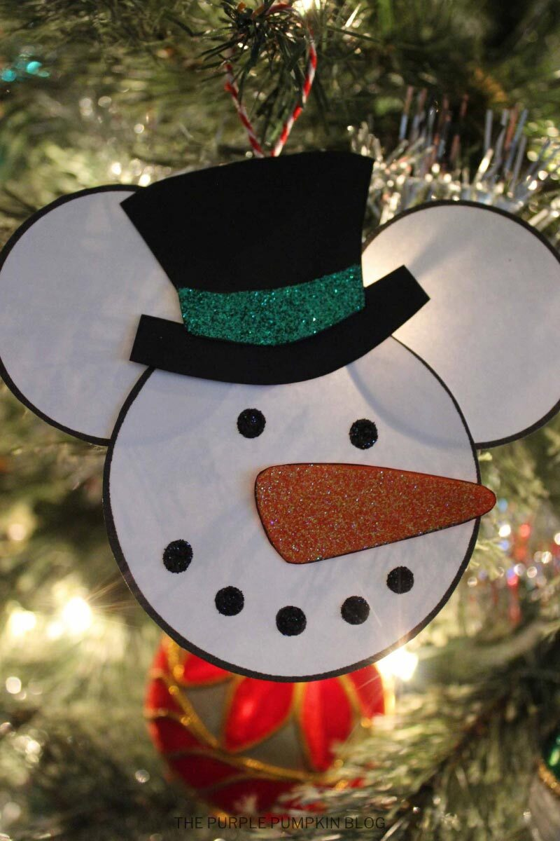 Snowman Mickey Christmas Tree Ornament