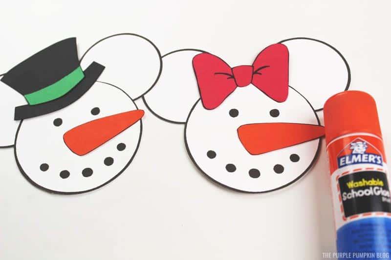 Snowman Mickey & Minnie Ornament Construction