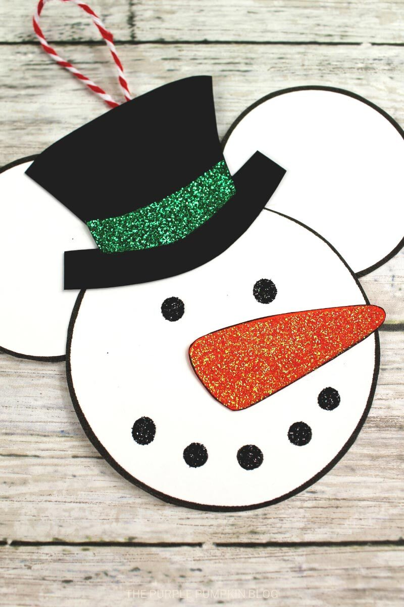Snowman Mickey Mouse Christmas Ornament Craft