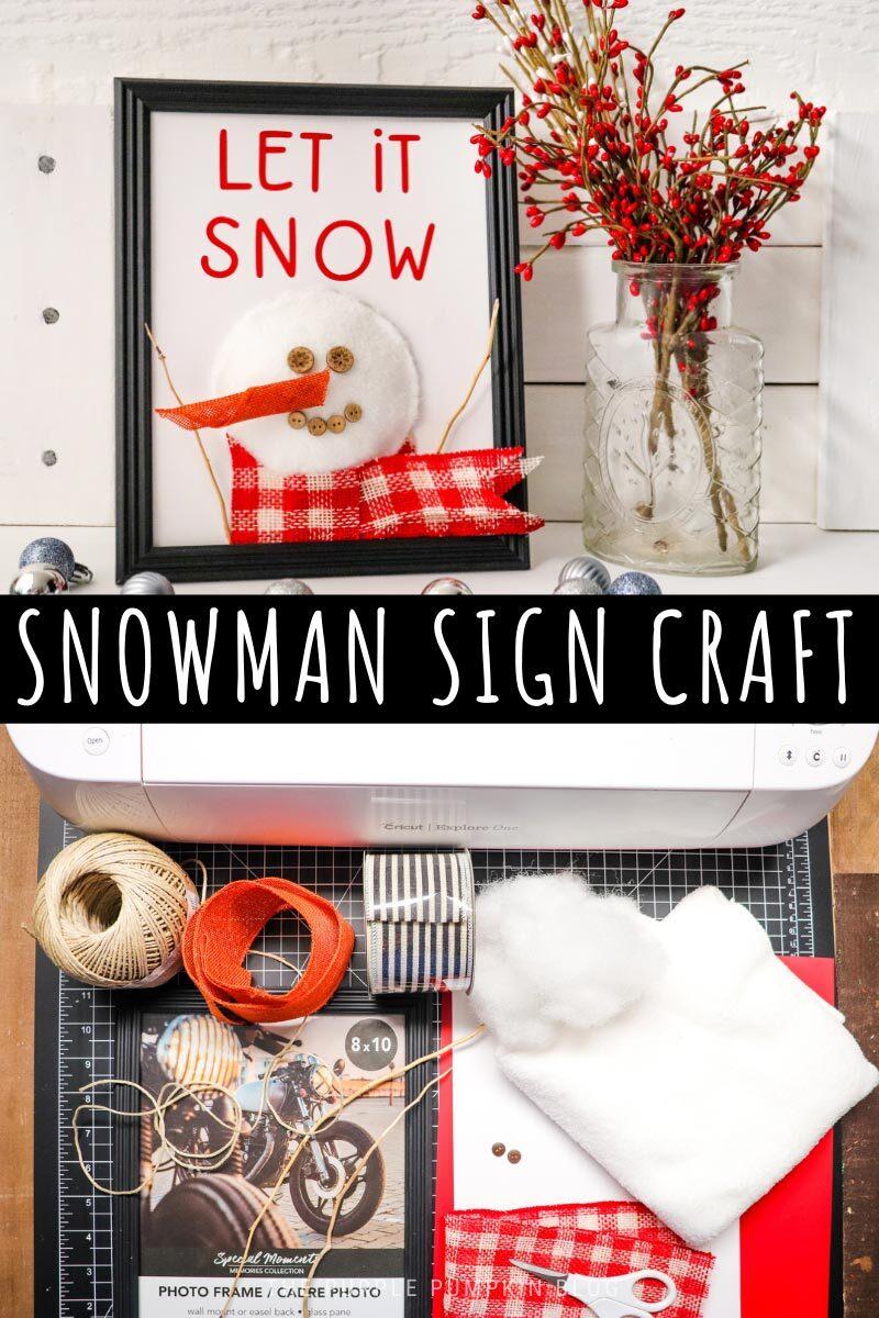 Snowman Sign Craft