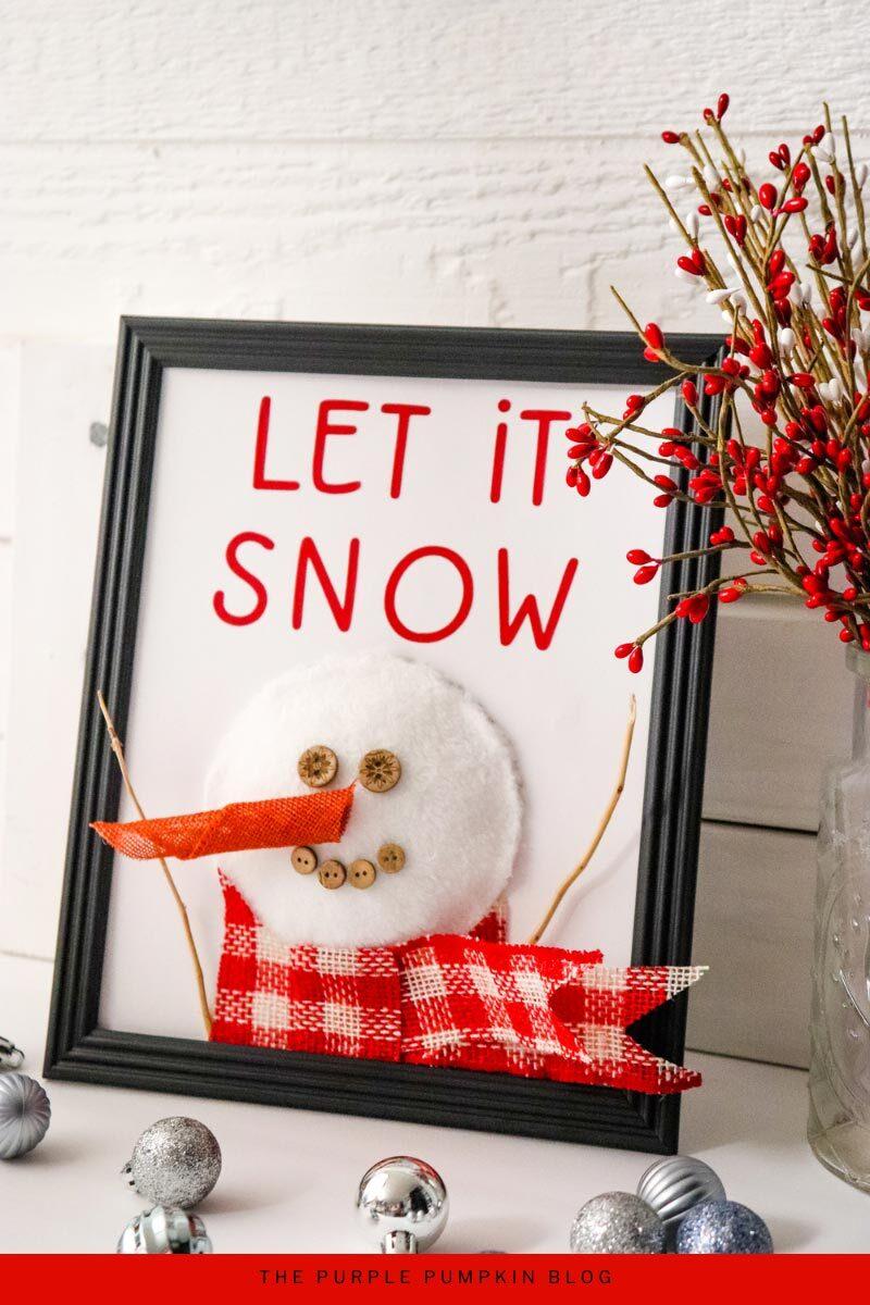 Snowman Sign Craft - Let It Snow!
