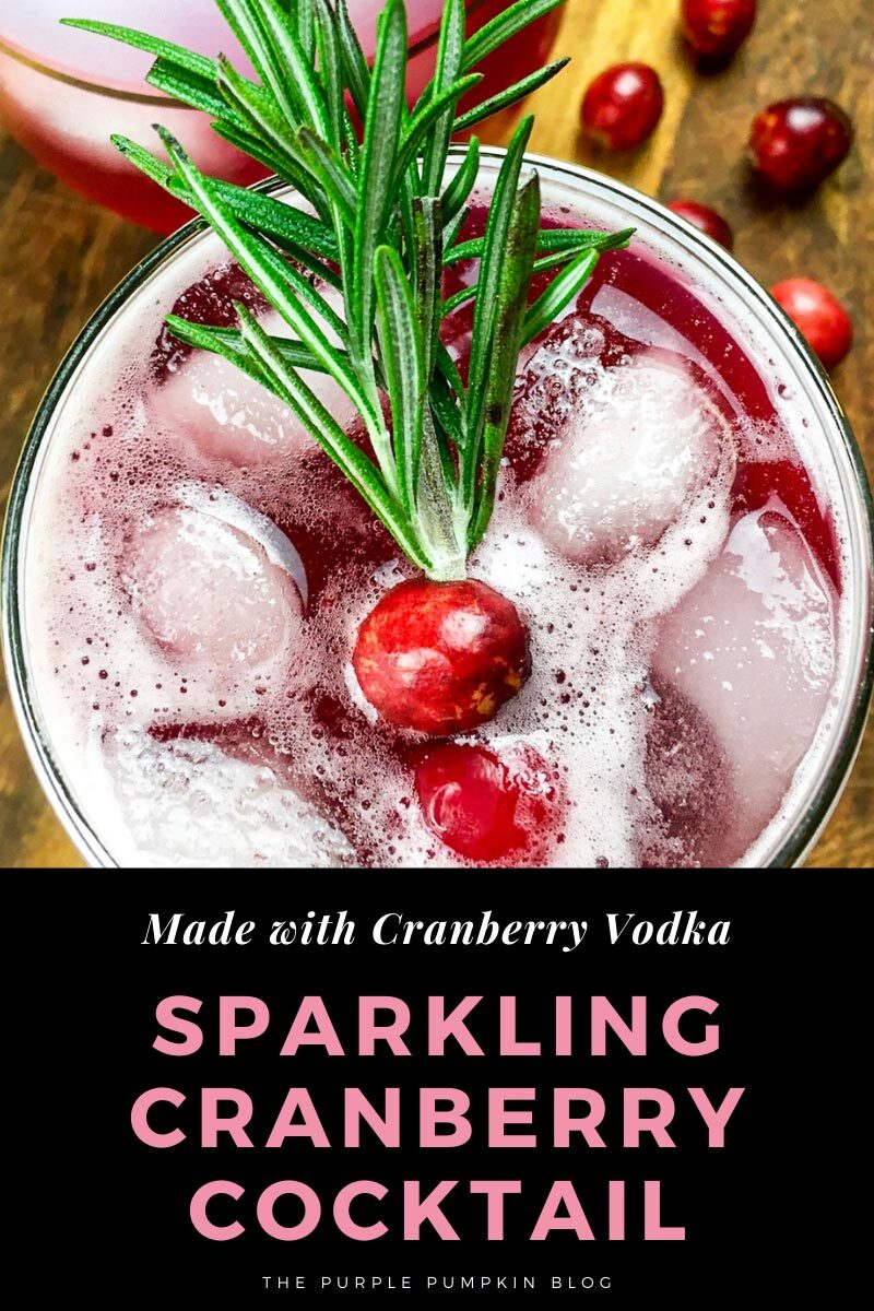 Sparkling Cranberry Cocktail made with Cranberry Vodka
