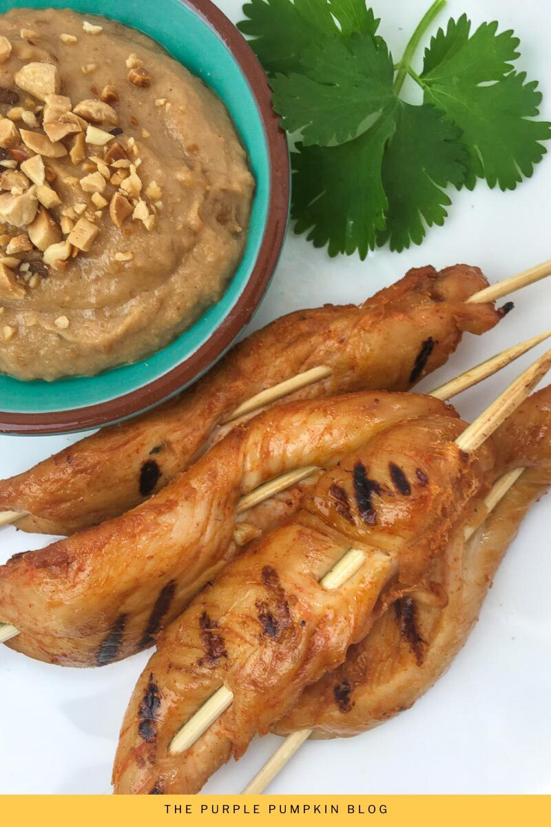 Spicy Chicken Satay with Peanut Dipping Sauce Recipe