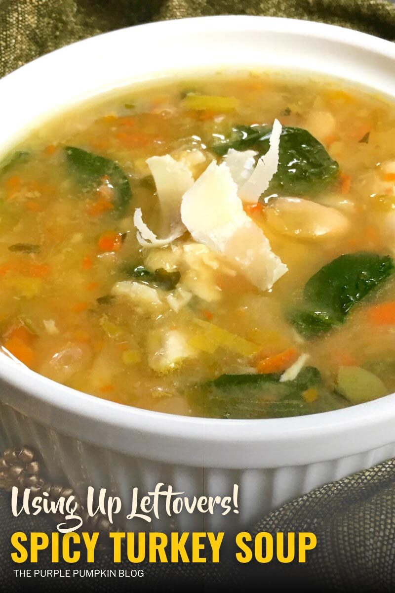 Spicy Turkey Soup Using Up Leftovers!