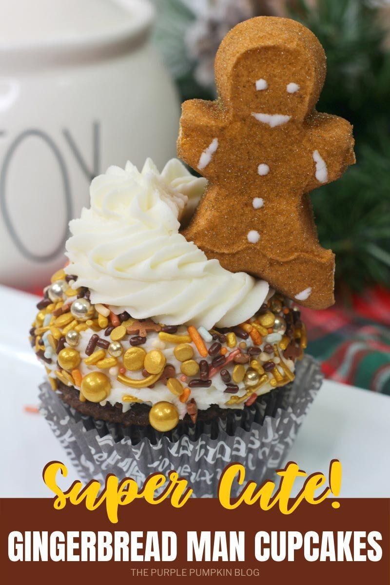 Super Cute Gingerbread Man Cupcakes