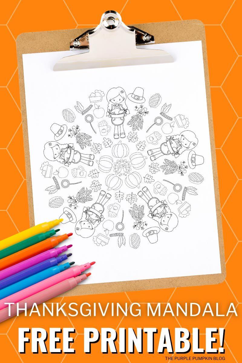 Thanksgiving Mandala Free Printable