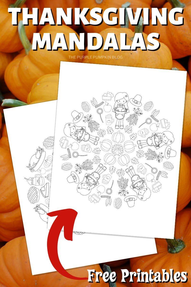 Thanksgiving Mandalas Free Printables